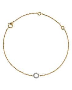 MATEO - 14K Yellow Gold Diamond Circle Bracelet