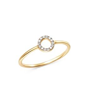MATEO - 14K Yellow Gold Diamond Mini Circle Ring