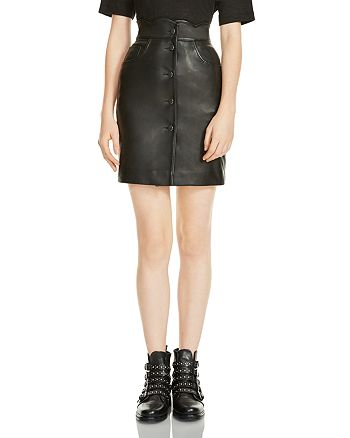 Maje - Journey Leather Skirt