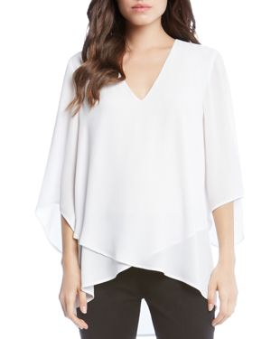 Crossover-Hem Tunic in Off White