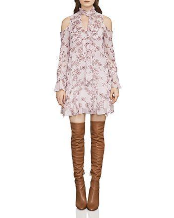 BCBGMAXAZRIA - Janus Vine Print Cold-Shoulder Dress