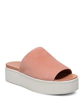 Vince - Women's Walford Suede Platform Slide Sandals