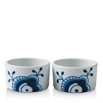 Royal Copenhagen - Blue Mega Soufflé Bowl, Set of 2