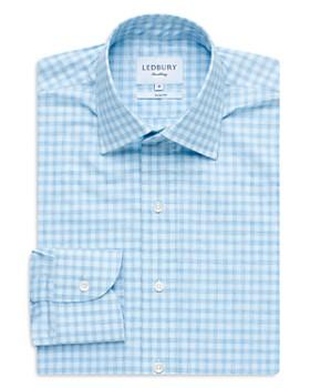 Ledbury - Gingham Slim Fit Dress Shirt
