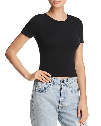Alice and Olivia - Cindy Crewneck Cropped Tee