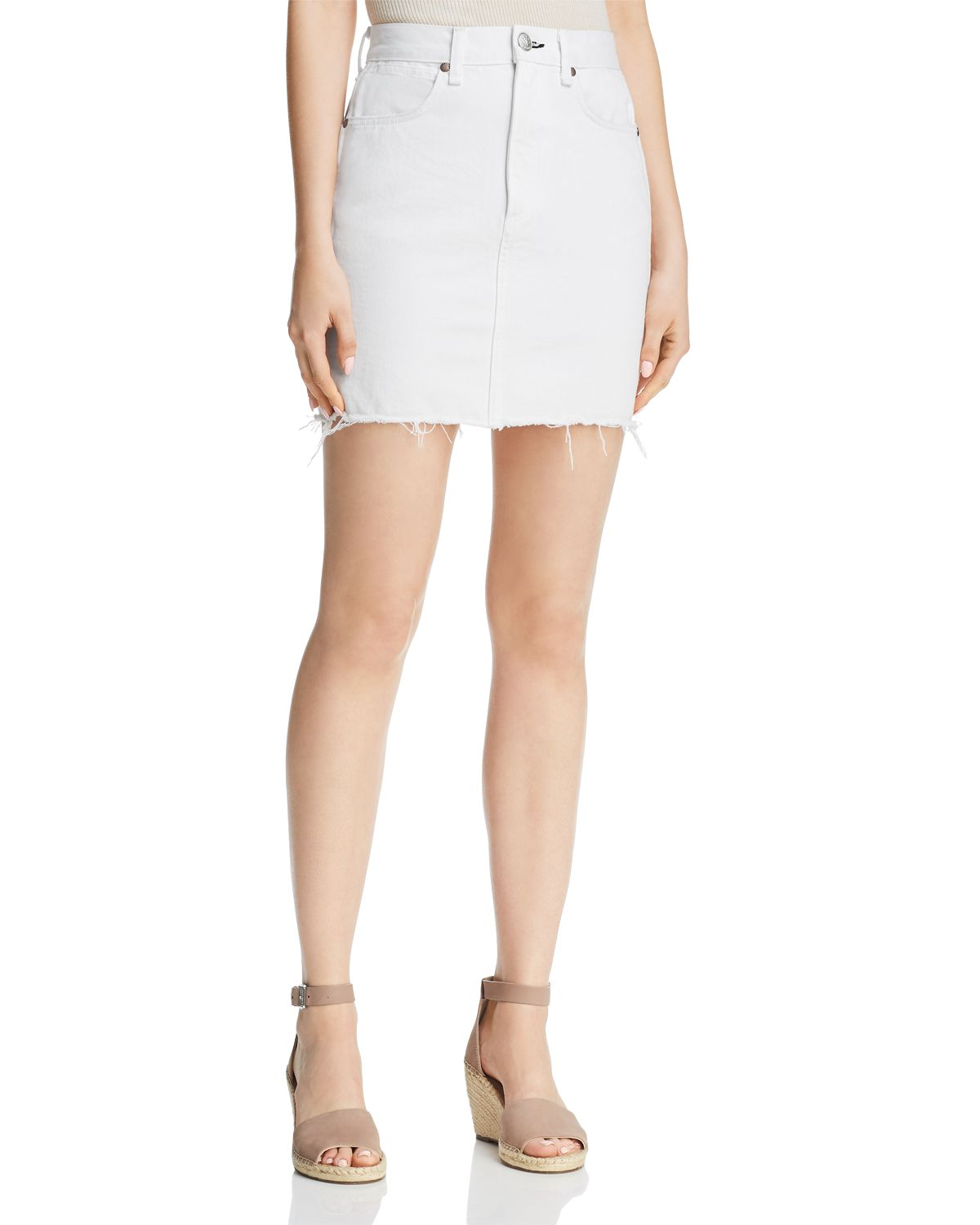 Moss Raw Edge Denim Skirt by Rag & Bone/Jean