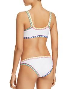 Platinum inspired by Solange Ferrarini - Crochet Trim Sporty Bralette Bikini Top & Crochet Trim Scoop Bikini Bottom