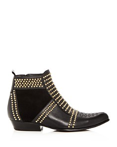 Anine Bing - Women's Charlie Studded Leather & Suede Booties