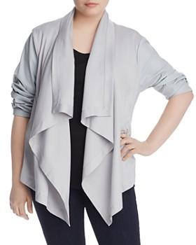 Bagatelle Plus - Mixed-Media Draped Jacket