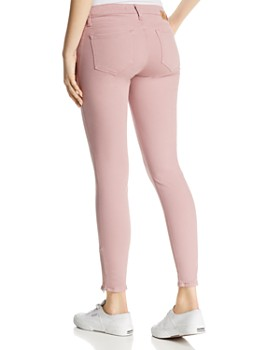 Mavi - Adriana Ankle Zip Skinny Jeans in Light Rose Twill