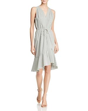 Adrianna Papell Striped Flounce Dress