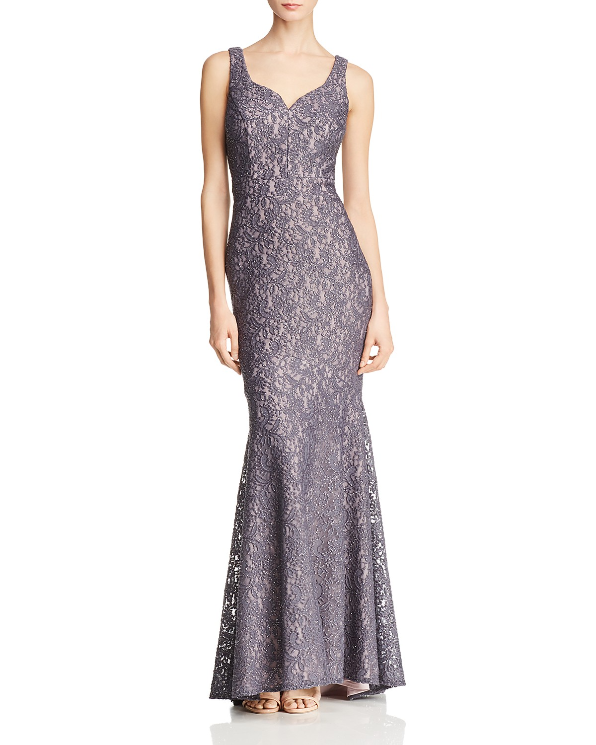 AQUA Shimmer Lace Gown - 100% Exclusive | Bloomingdale\'s