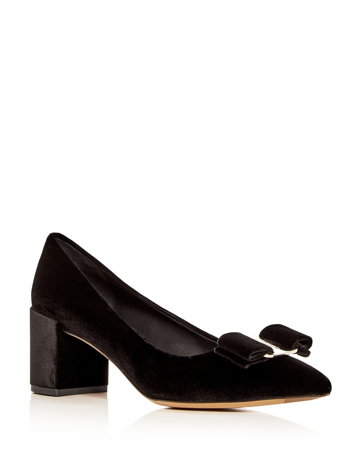 clearance professional free shipping clearance store Salvatore Ferragamo Velvet Pointed-Toe Pumps uyKGWbx0