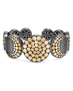 John Hardy Blackened Sterling Silver & 18K Bonded Gold Dot Hammered Moon Flex Cuff - Bloomingdale's_0