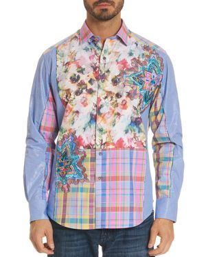 Robert Graham Limited Edition Floral Plaid Classic Fit Button-Down Shirt 2880078