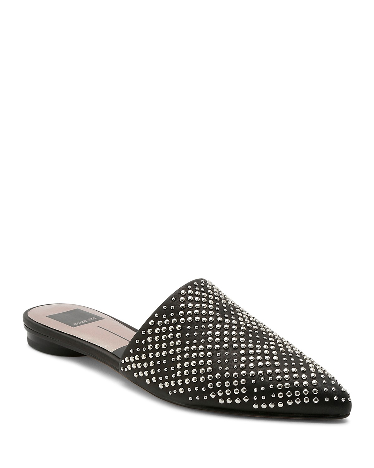 Dolce Vita Women's Elvah Studded Leather Pointed Toe Mules