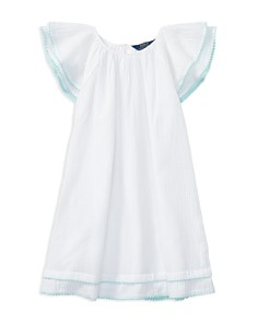 Polo Ralph Lauren Girls' Cotton Gauze Flutter-Sleeve Dress - Big Kid - Bloomingdale's_0