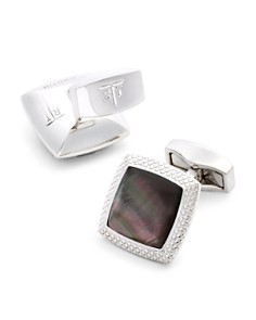 Tateossian Black Mother-of-Pearl Square Cufflinks - Bloomingdale's_0