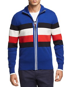Tommy Hilfiger Striped Zip Sweater - Bloomingdale's_0