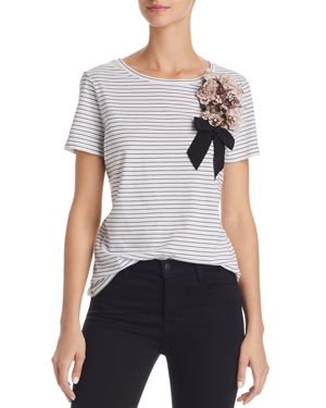 EMBELLISHED STRIPE TEE