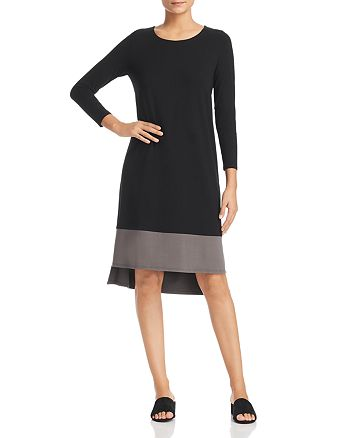 Eileen Fisher - Color Block High/Low Dress