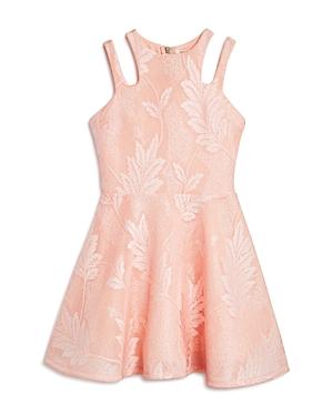 Miss Behave Girls Adrianna Embroidered Mesh Dress  Big Kid