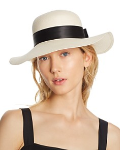 AQUA Bow Detail Floppy Sun Hat - 100% Exclusive - Bloomingdale's_0
