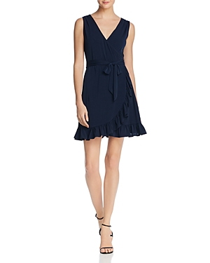 Aqua Ruffle Jersey Faux Wrap Dress - 100% Exclusive