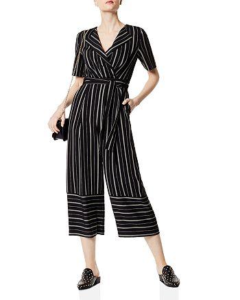 ae36084a75f8 KAREN MILLEN - Striped Cropped Wide-Leg Jumpsuit