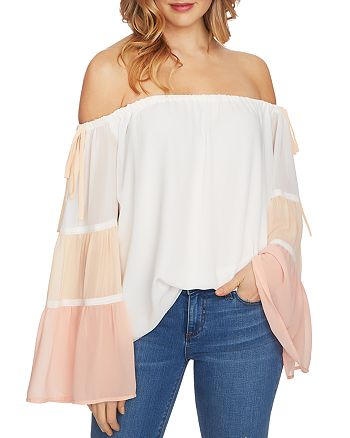 1.STATE Color-Block Off-the-Shoulder Top  97fab8265dcd