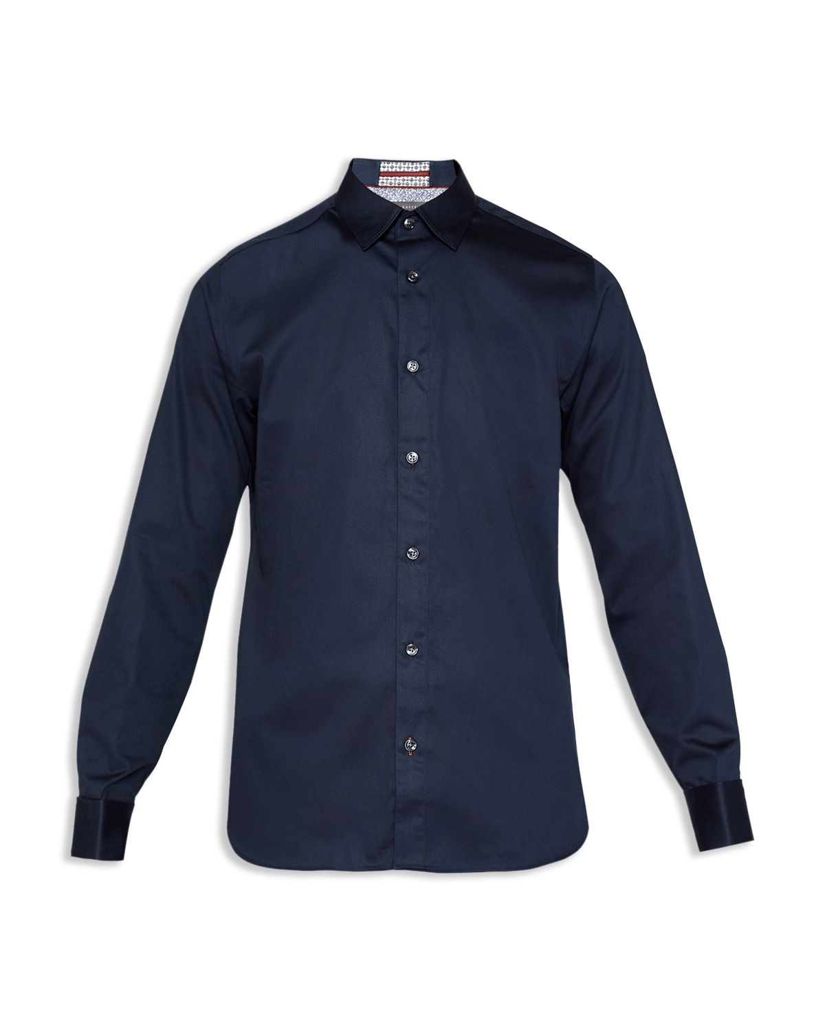 Romeio Satin Stretch Phormal Regular Button Down Shirt by Ted Baker