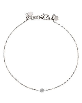 AeroDiamonds - 18K White Gold Solo Diamond Bracelet