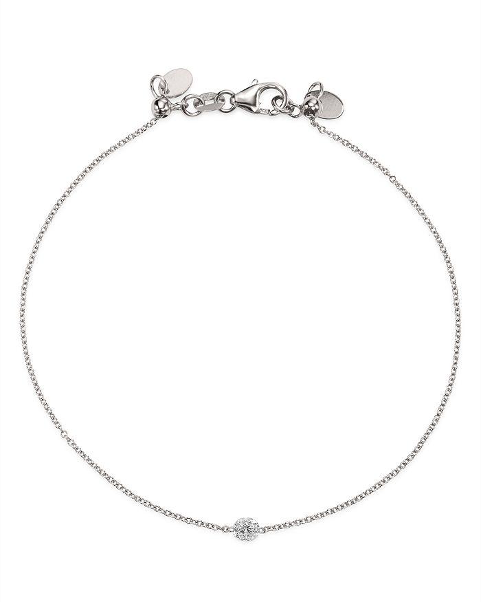 Aerodiamonds 18k White Gold Solo Diamond Bracelet