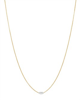 AeroDiamonds - 18K Yellow Gold Solo Marquise Diamond Necklace, 18""