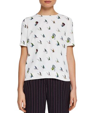 COLOUR BY NUMBERS IDEL FLY FISH PLEAT-BACK TOP