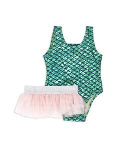 Shade Critters Girls' Metallic Mermaid Scale Swimsuit & Tutu Skirt Set - Little Kid - Bloomingdale's_0