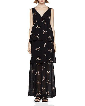 BCBGENERATION - Floral Crisscross Tiered Maxi Dress