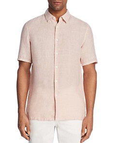 Theory Irving Summer Linen Short Sleeve Button-Down Shirt - Bloomingdale's_0