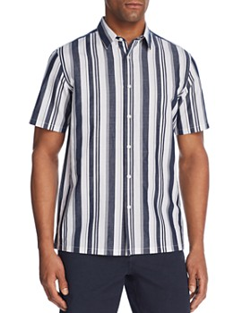 Theory - Irving Wide Stripe Button-Down Shirt