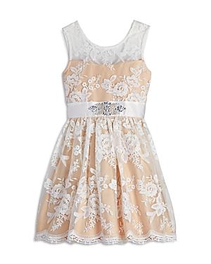 Us Angels Girls Floral Lace Dress  Big Kid