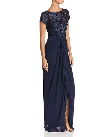 Adrianna Papell - Embellished Bodice Gown