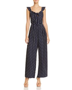 POLKA DOT WIDE-LEG JUMPSUIT - 100% EXCLUSIVE