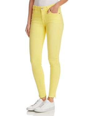 7 For All Mankind The Ankle Skinny Jeans in Vivid Yellow 2904746