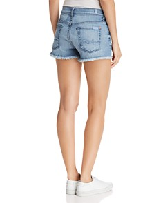 7 For All Mankind - Cutoff Denim Shorts in Paradise Sky - 100% Exclusive