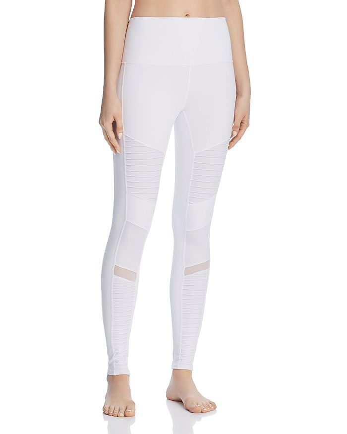 dfa325796e201 Alo Yoga - High-Waist Moto Leggings