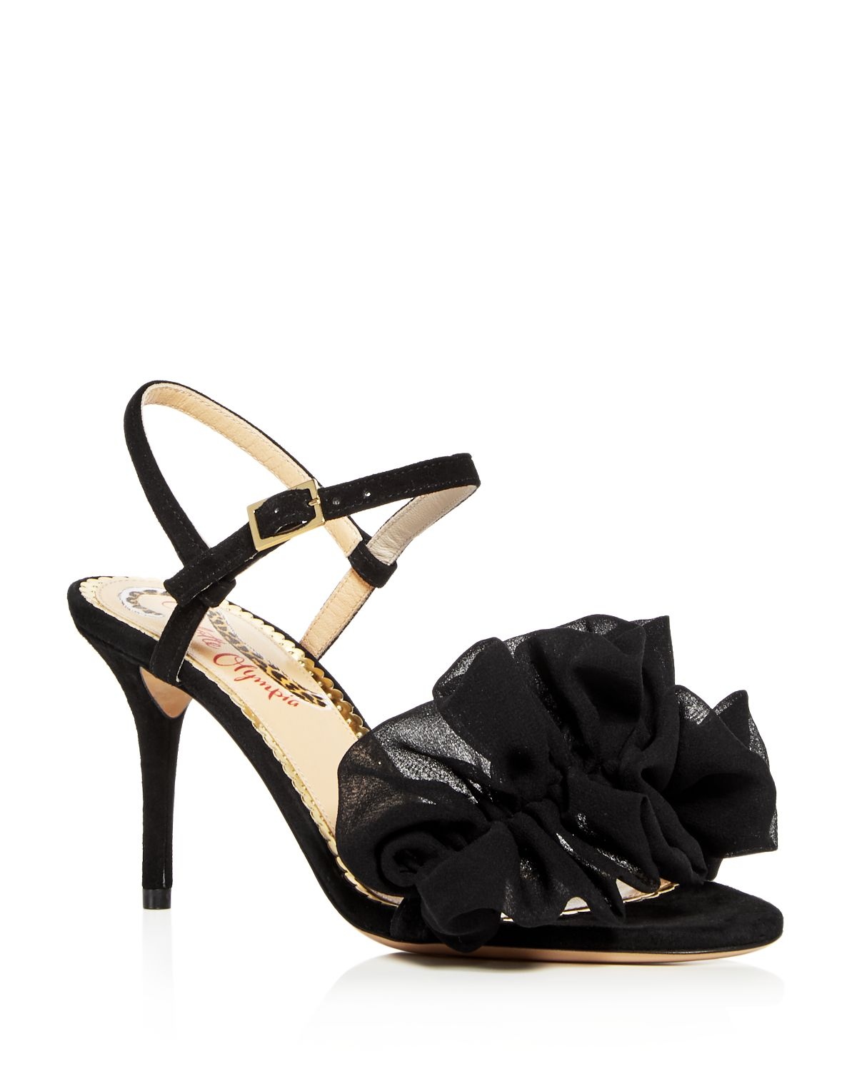 Charlotte Olympia Women's Reia Leather & Chiffon Slingback High-Heel Sandals