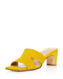 Charles David - Women's Suede Harley Block Heel Slide Sandals