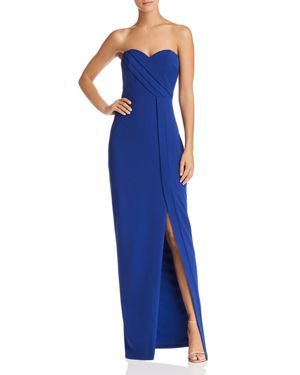 BARIANO Strapless Column Gown - 100% Exclusive in Cobalt