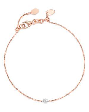 AERODIAMONDS Aerodiamonds 18K Rose Gold Solo Diamond Bracelet, White/Rose Gold