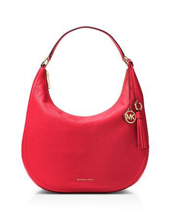 4051c59e548b MICHAEL Michael Kors Lydia Large Leather Hobo | Bloomingdale's
